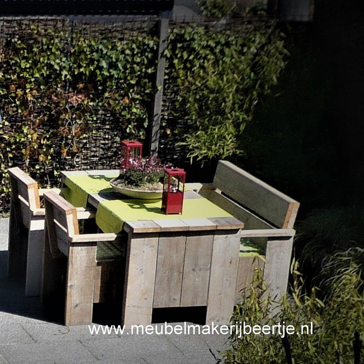 tuin set steigerhout